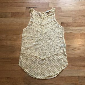 American Eagle Lace Tank with Eyelet Back